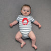 Tobytogs Jasper penguin grey striped baby bodysuit main