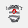 Tobytogs Toby elephant grey striped baby bodysuit cut-out