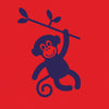 Tobytogs Max monkey red skater t-shirt close-up