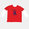 Tobytogs Max monkey red skater t-shirt cut-out