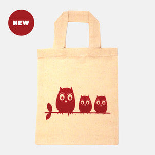 Lucy owl mini tote bag