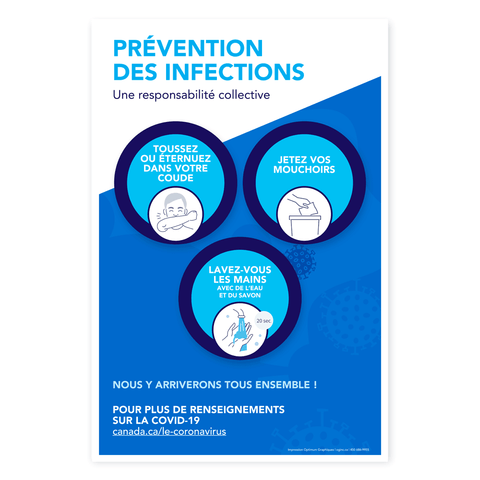 «Prevent infections» poster
