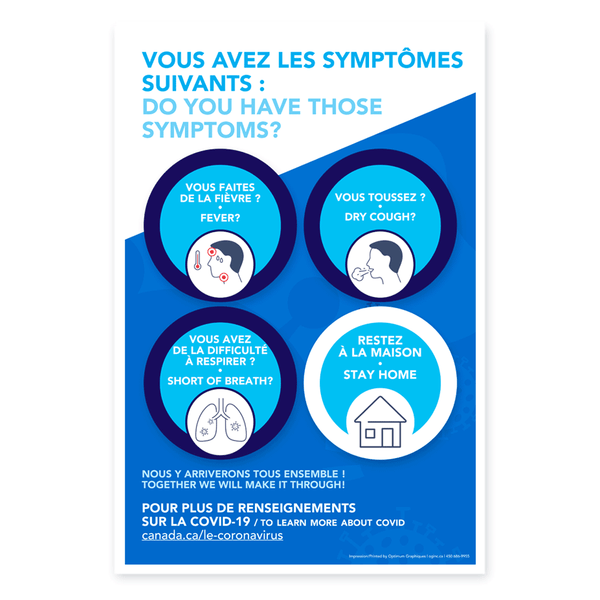 «Do you have those symptoms:» poster
