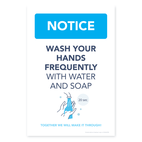 «Wash your hands frequently» poster