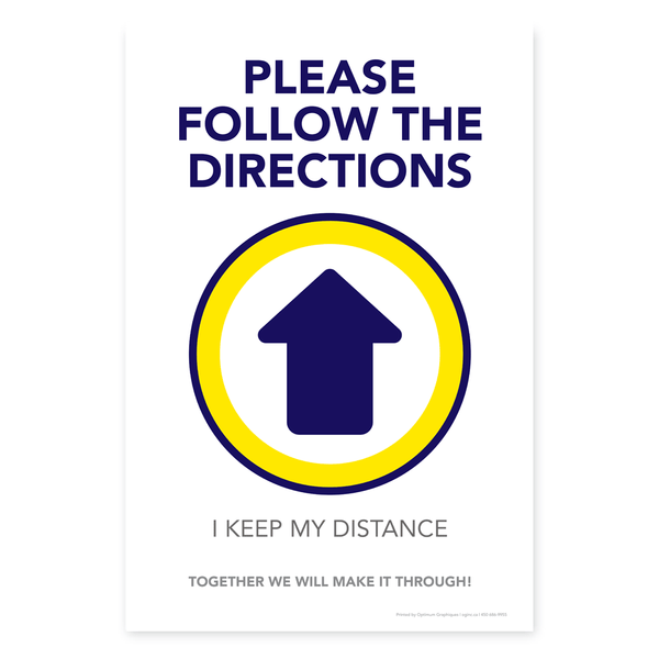 «Please follow the directions» sticker