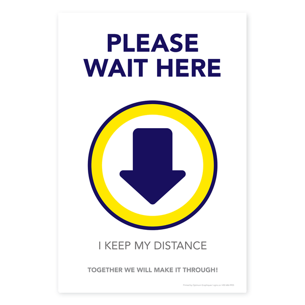 «Please wait here» poster