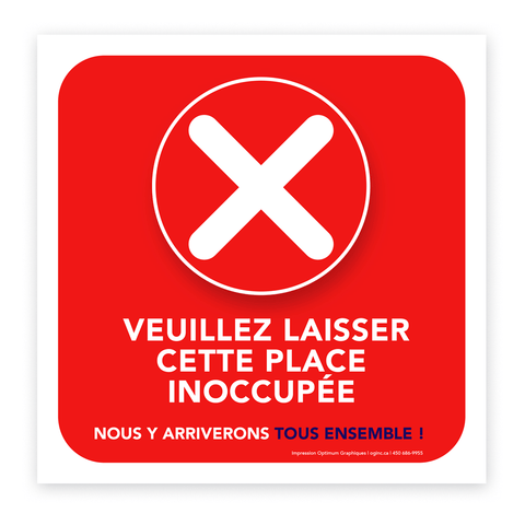 «Please leave this place unoccupied» sticker