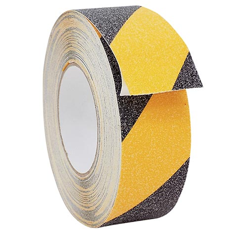 Adhesive tape with anti-slip grains - Yellow and Black