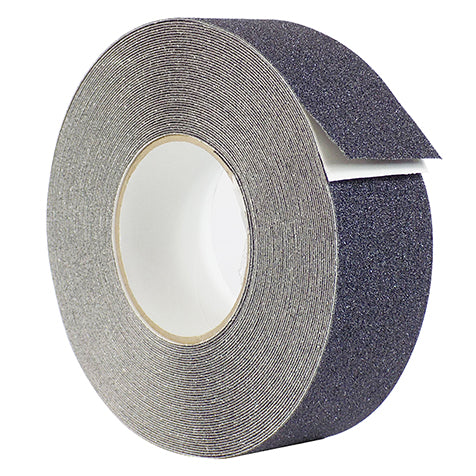 Adhesive tape with anti-slip grains - Black