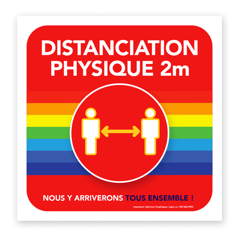 «Physical distancing - Rainbow» sticker