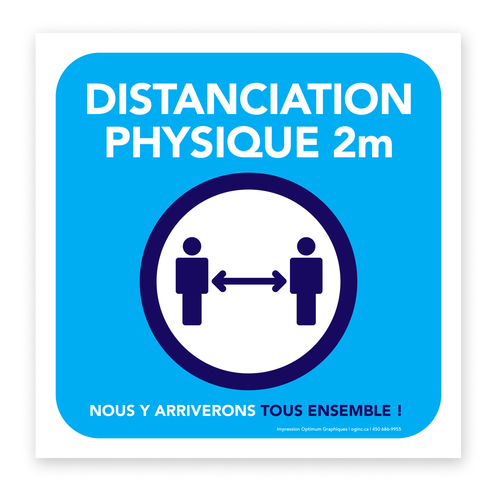 «Physical distancing» sticker