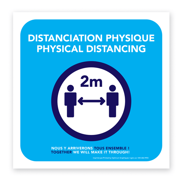 Autocollant «Distanciation physique»