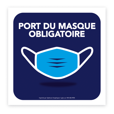 Sticker «Mask covering mandatory - Model 4»
