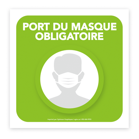 Sticker «Mask covering mandatory - Model 2»