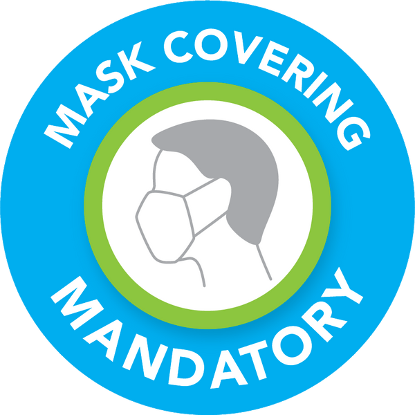 Floor stickers - Mask covering mandatory - Model 2