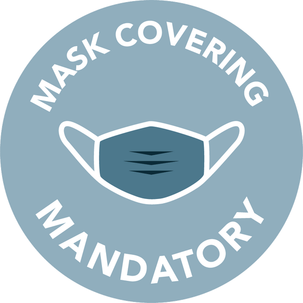 Floor stickers - Mask covering mandatory - Model 4