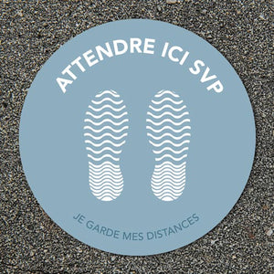 Outdoor grey floor stickers - One-Way