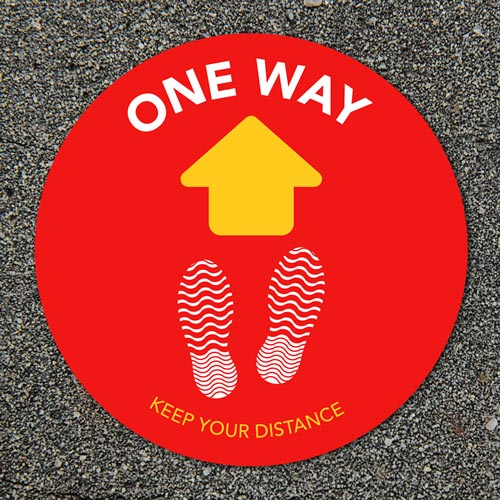 Outdoor floor stickers - One-Way