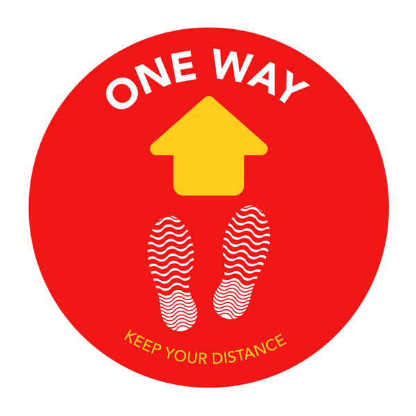 Floor stickers - One-way