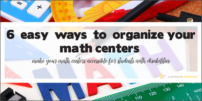 6 easy ways to organize your math centers