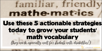 strategies to grow students math vocabulary