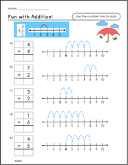 Worksheets Special Ed Worksheets free math worksheets luminous learning printable with number lines for special education students