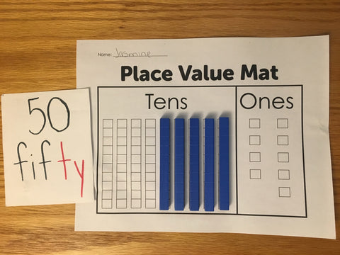 making fifty with the place value mat