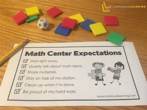free math center expectations checklist for special education students