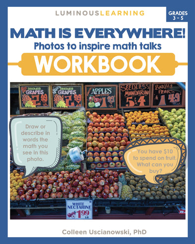 """Math is Everywhere"" Workbook for Grades 3 - 5"