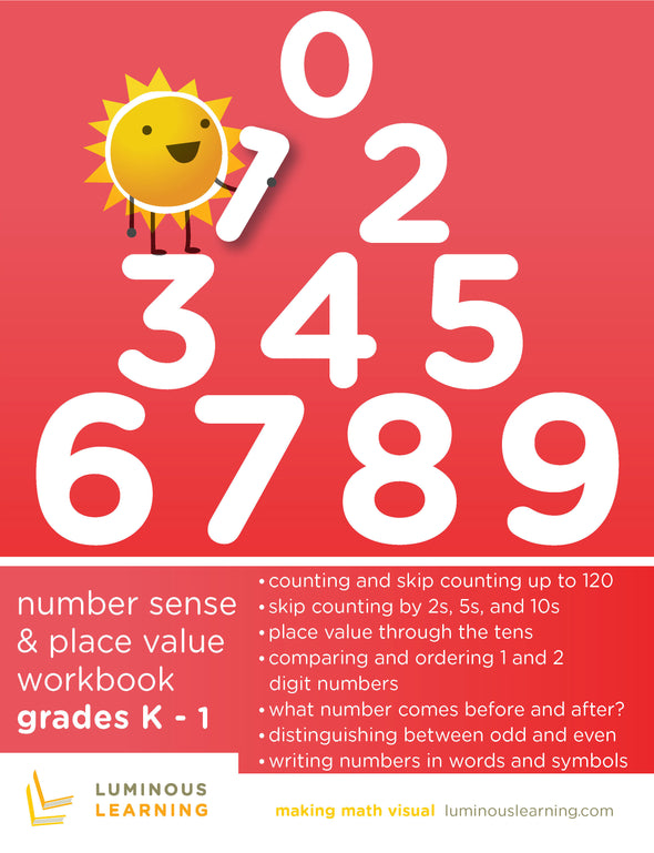 Kindergarten and Grade 1 Number Sense and Place Value Workbook