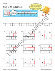 1st grade math worksheets for special education: find the missing addend