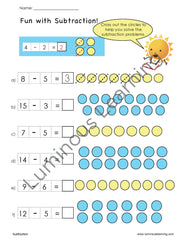 first grade addition and subtraction math worksheets for students with dyslexia