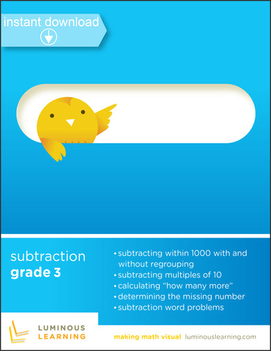 subtraction worksheets for special education students in 3rd grade