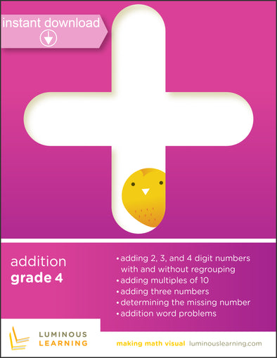 addition worksheets with graph paper for special education students with learning disabilities