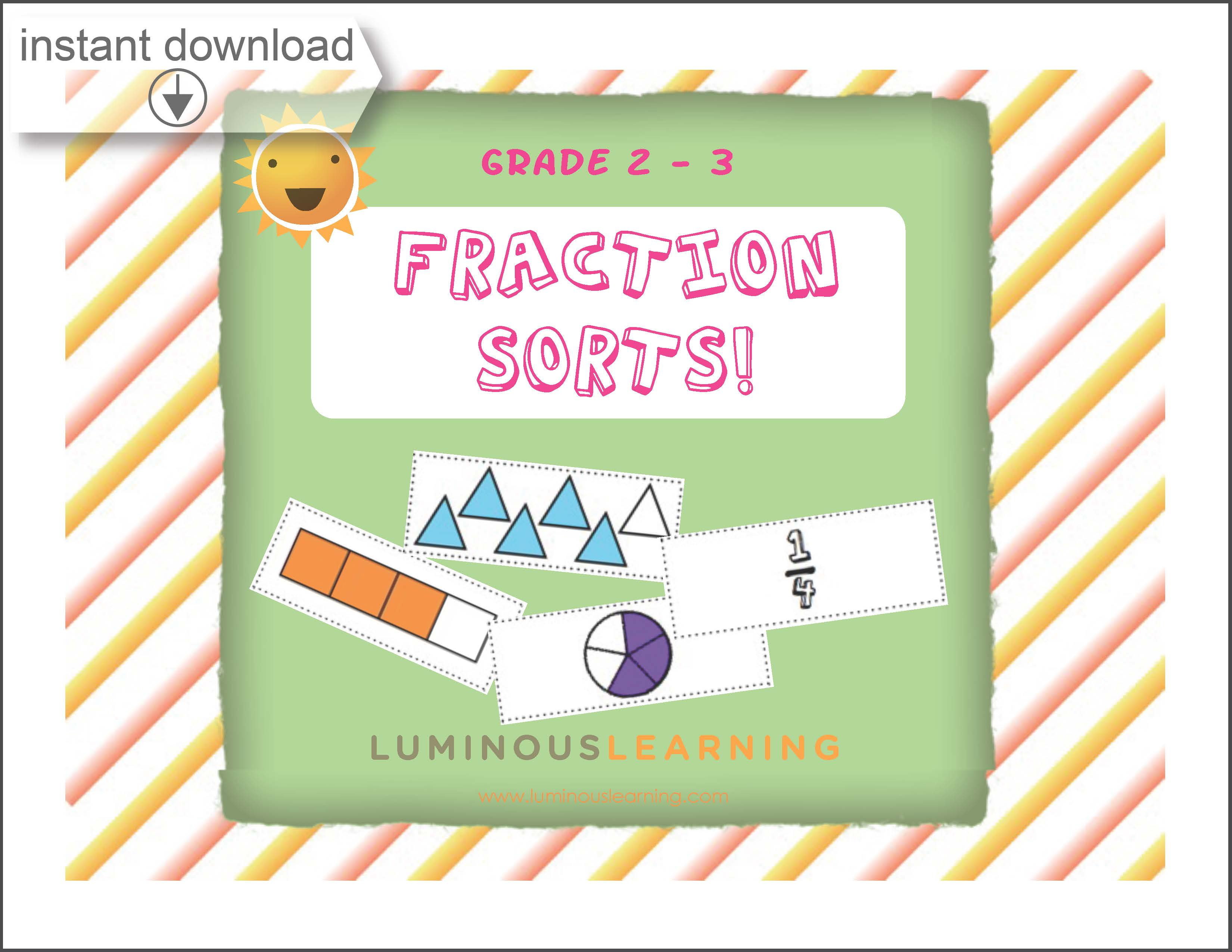 picture about Printable Activity Books named Grades 2 - 3 Portion Sorting: Printable Video game E book