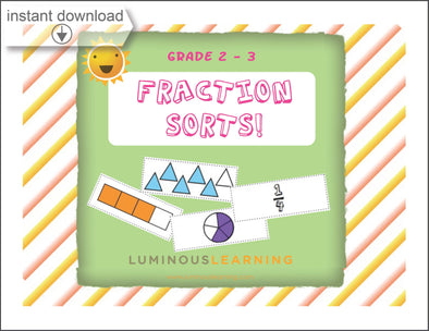 Grades 2 - 3 Fraction Sorting: Printable Activity Book
