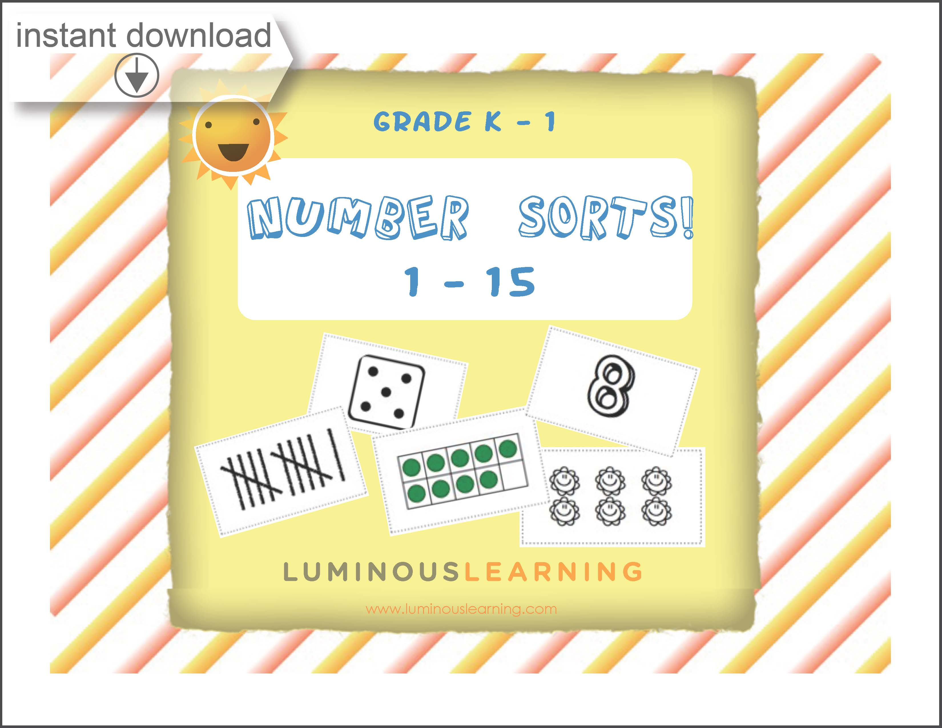 graphic about Printable Activity Books named Grades K - 1 Quantity Sorting: Printable Recreation Reserve