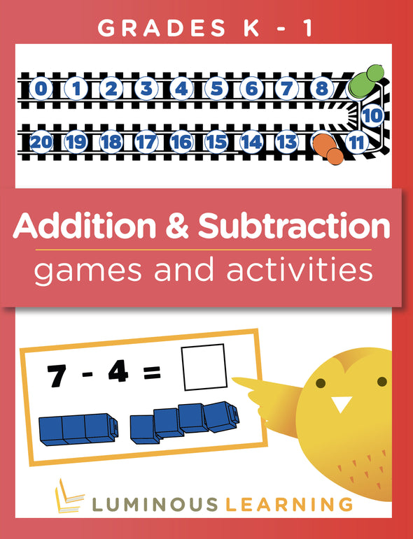 Addition and Subtraction Games and Activities - Grades K - 1