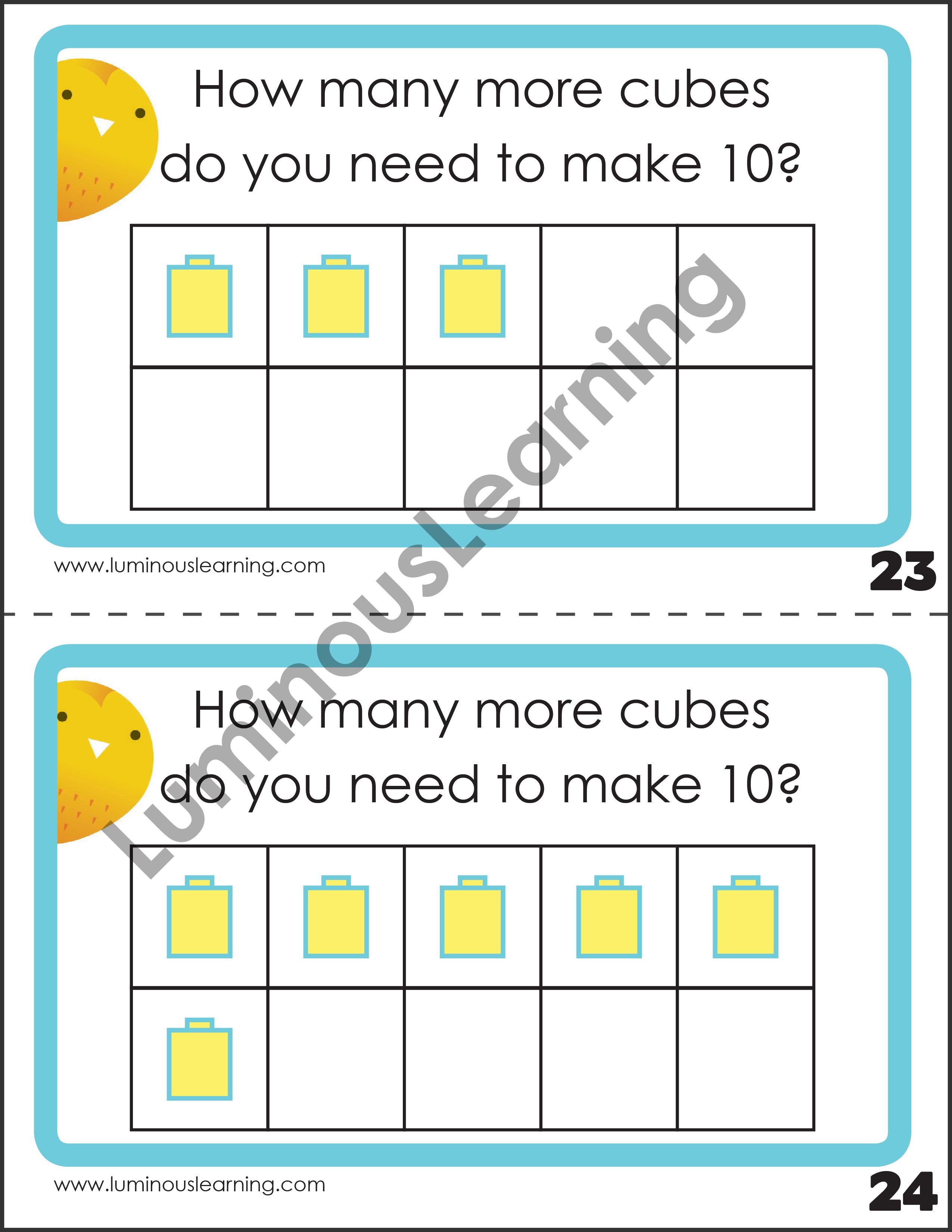 Addition Subtraction Games With Unifix Cubes Special Ed