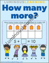 printable subtraction games for special education students in kindergarten and 1st grade
