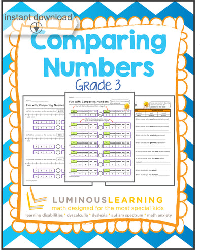 Grade 3 Comparing Numbers: Printable Workbook