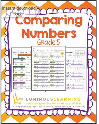 Grade 5 Comparing Numbers: Printable Workbook