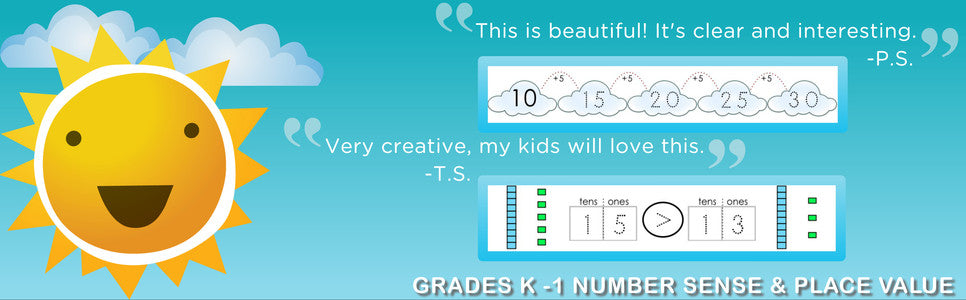 """This is beautiful! It's clear and interesting."" -Grades K - 1 Number Sense and Place Value"