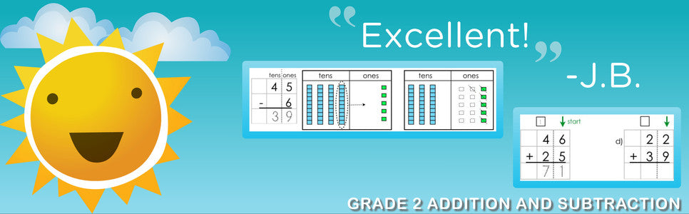 """Excellent!"" -Grade 2 Addition and Subtraction"