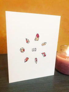 Gemini - Crystal Zodiac Birthday Card