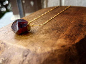 Garnet Is January's Birthstone And This Necklace Is Gonna Fix You Right Up Necklace