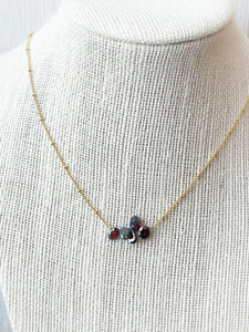 Have You Tried Minding Your Own Business Garnet Necklace