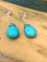Load image into Gallery viewer, Enough Already Turquoise Earrings