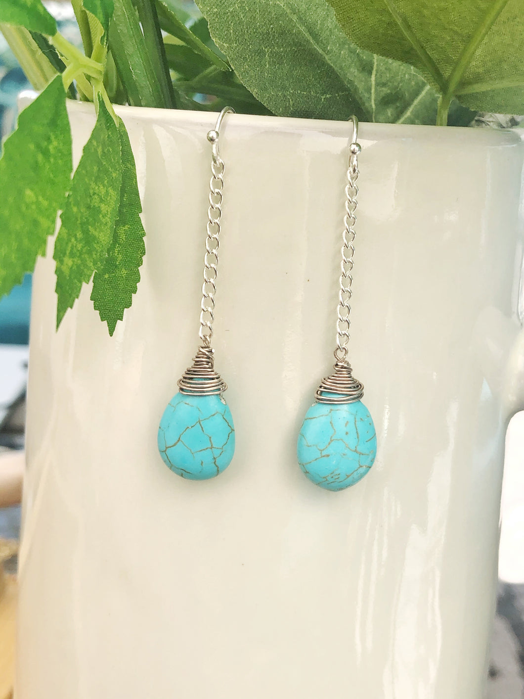 Enough Already Turquoise Earrings