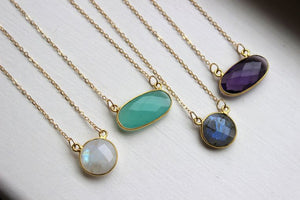 Labradorite Necklace by Laalee Jewelry